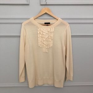 J. Crew Ruffle Merino Wool Tippi Sweater SzL